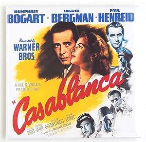 Casablanca Movie Poster Fridge Magnet (2 x 2 inches)
