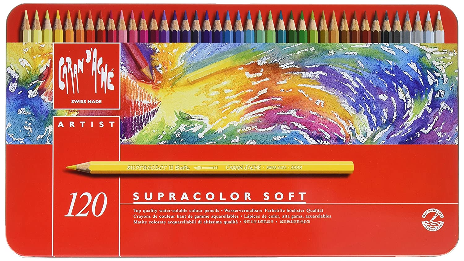 Caran D'ache Supracolor Pencil, Set, 120/Tin (J3888420) (3888.420) Cell Distributors