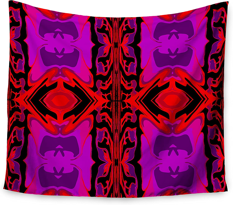 68 x 80 KESS InHouse Nina May Mineral Pink  Purple Watercolor Wall Tapestry