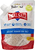Redmond Real Sea Salt - Natural Unrefined Organic Gluten Free Kosher, 16 Ounce Pouch (1 Pack)