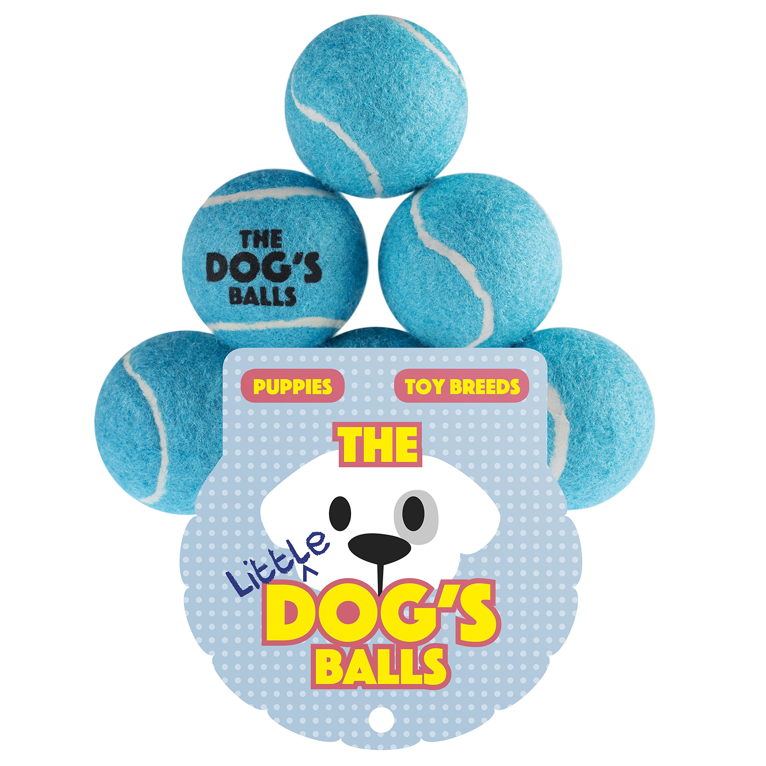 The Dog's Balls Tennis Balls for Dogs, Premium Mini Dog Toy for Puppies and Small Dogs, Puppy Exercise, Play, Training and Fetch, No Squeaker, The King Kong of Little Dog Balls, Blue