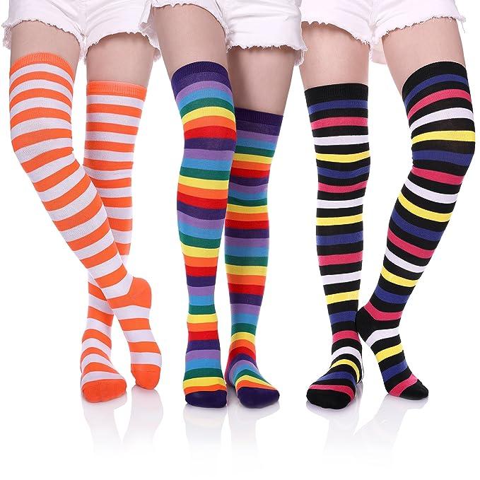 Amazon.com: YEBING - Calcetines de algodón para mujer y niña ...