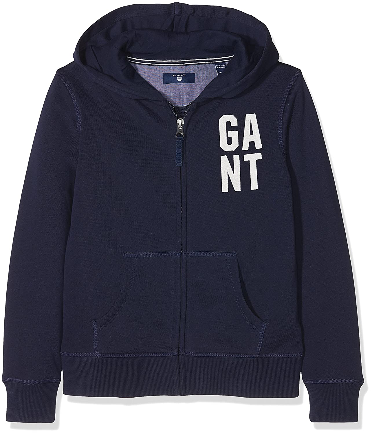 Gant Collegiate Full Zip Sweat Hoodie, Cappuccio Bambina 606715