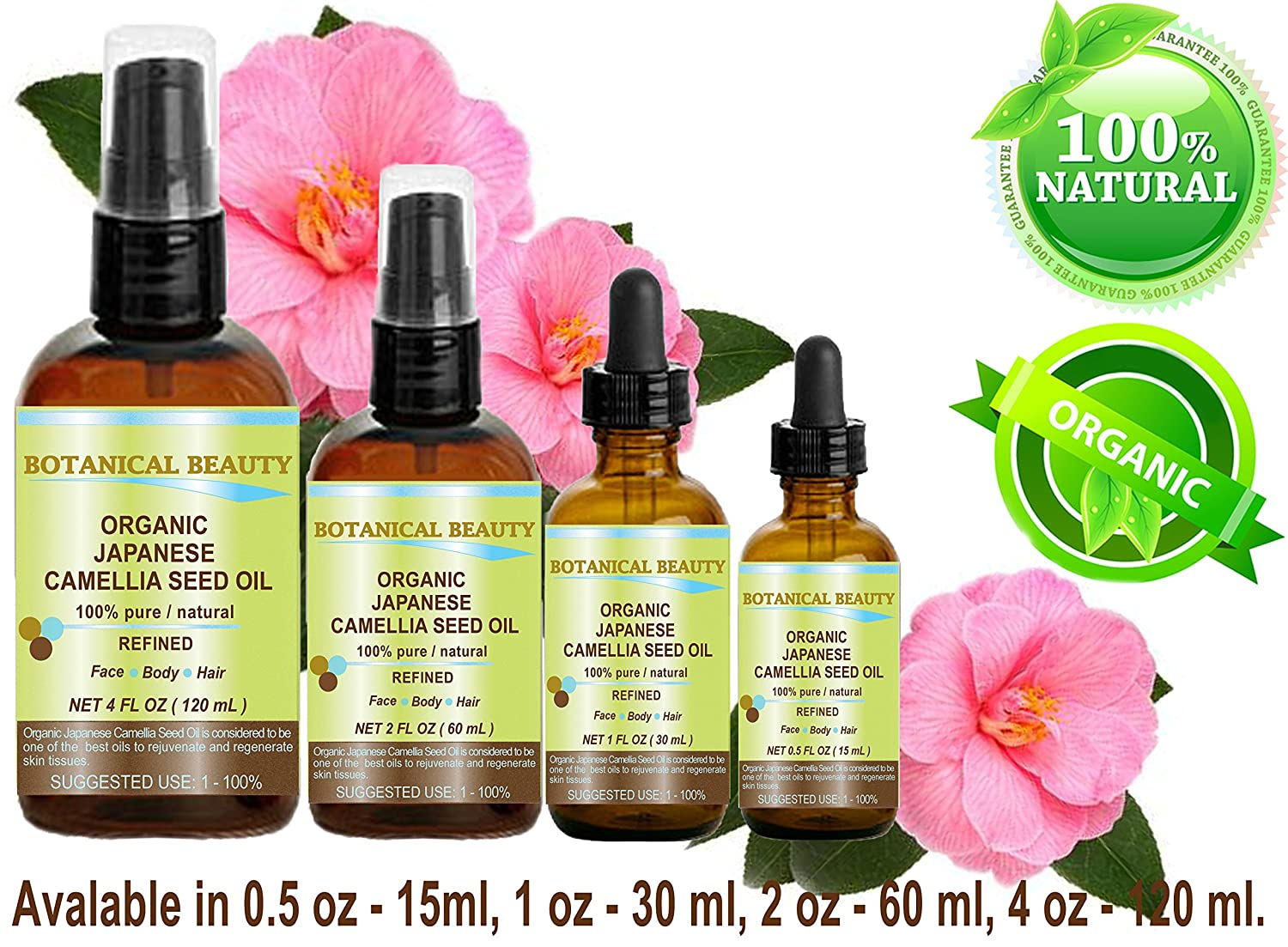 Amazon Japanese Organic Camellia Seed Oil 100 Pure Natural