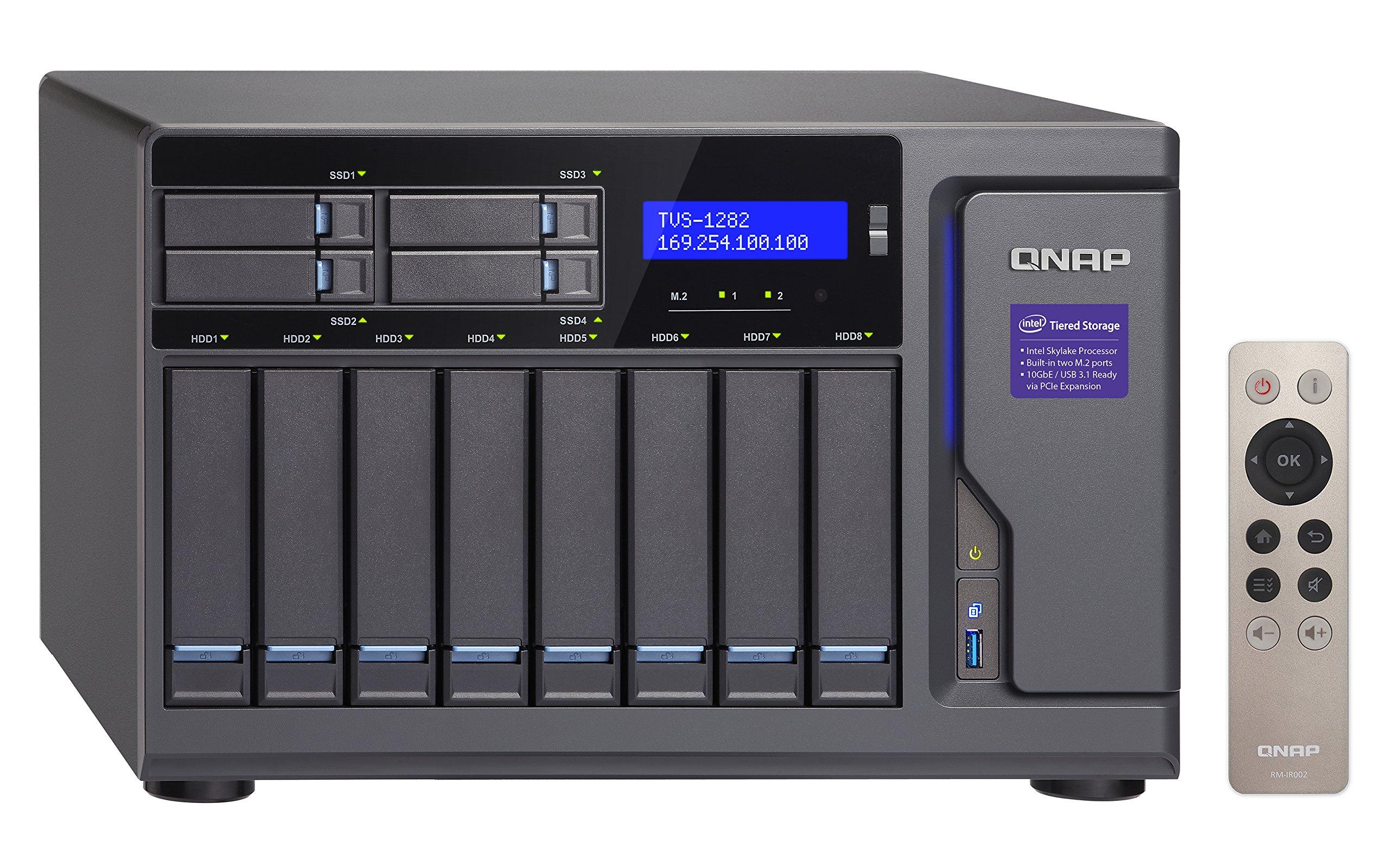 Qnap TVS-1282-i7-64G-US High Performance 12 bay (8+4) NAS/iSCSI IP-SAN, Intel Skylake Core i7-6700 3.4 GHz Quad Core, 32GB RAM, 10G-ready by QNAP (Image #5)