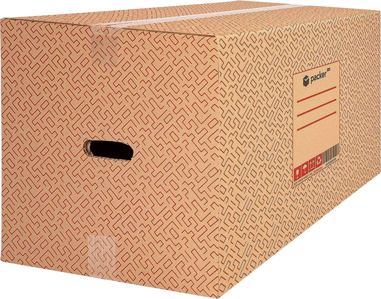 Pack 10 Cajas Carton para Mudanzas y Almacenaje 600x400x400mm Ultra Resistentes con Asas, 100% ECO Box - Packer PRO: Amazon.es: Oficina y papelería