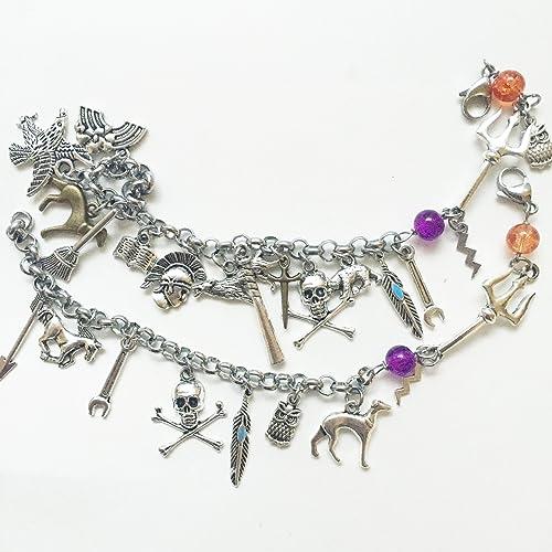 Amazon.com: Greek Mythology Greek Gods Charm Bracelet, Stainless ...