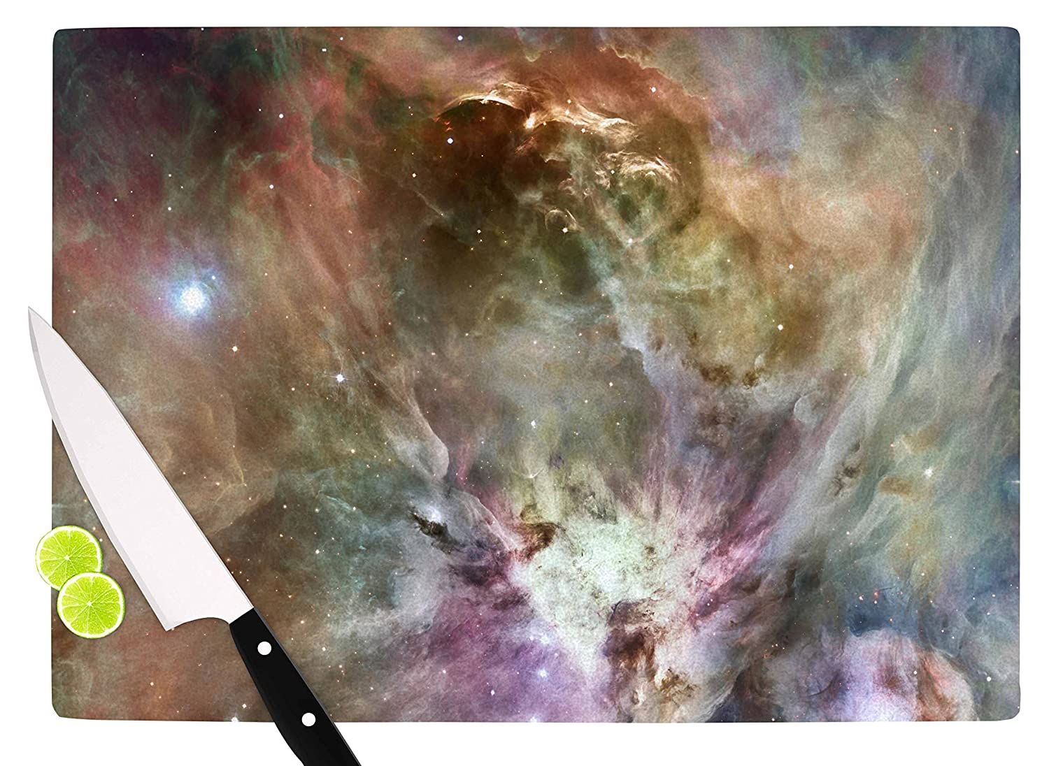 Multicolor 11.5 x 8.25 KESS InHouse SC2175ACB01 Suzanne CarterOrion Nebula Celestial Gray Cutting Board