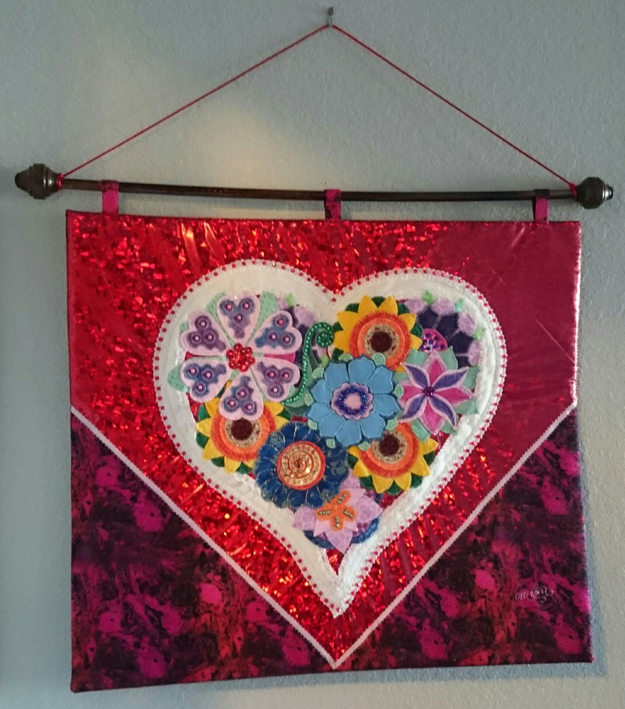 Textile Wall Art - ''GARDEN of LOVE''