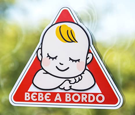 Pegatina Vinilo Bebe a Bordo, Baby on Board (12.5cm x 11cm ...