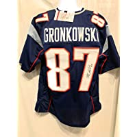17989f52a40 Rob Gronkowski New England Patriots Signed Autograph Custom Blue Jersey JSA  Witnessed Certified
