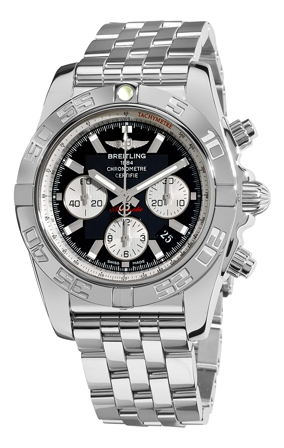 competitive price b9ad4 c5a71 Breitling Men's AB011012/B967 Chronomat B01 Black Chronograph Dial Watch