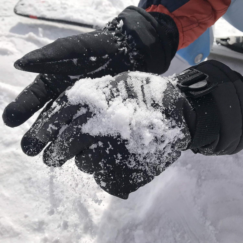 Waterproof,3M Thinsulate KIM YUAN Ski Snowboard Winter Gloves Cold Weather Gloves for Men /& Women