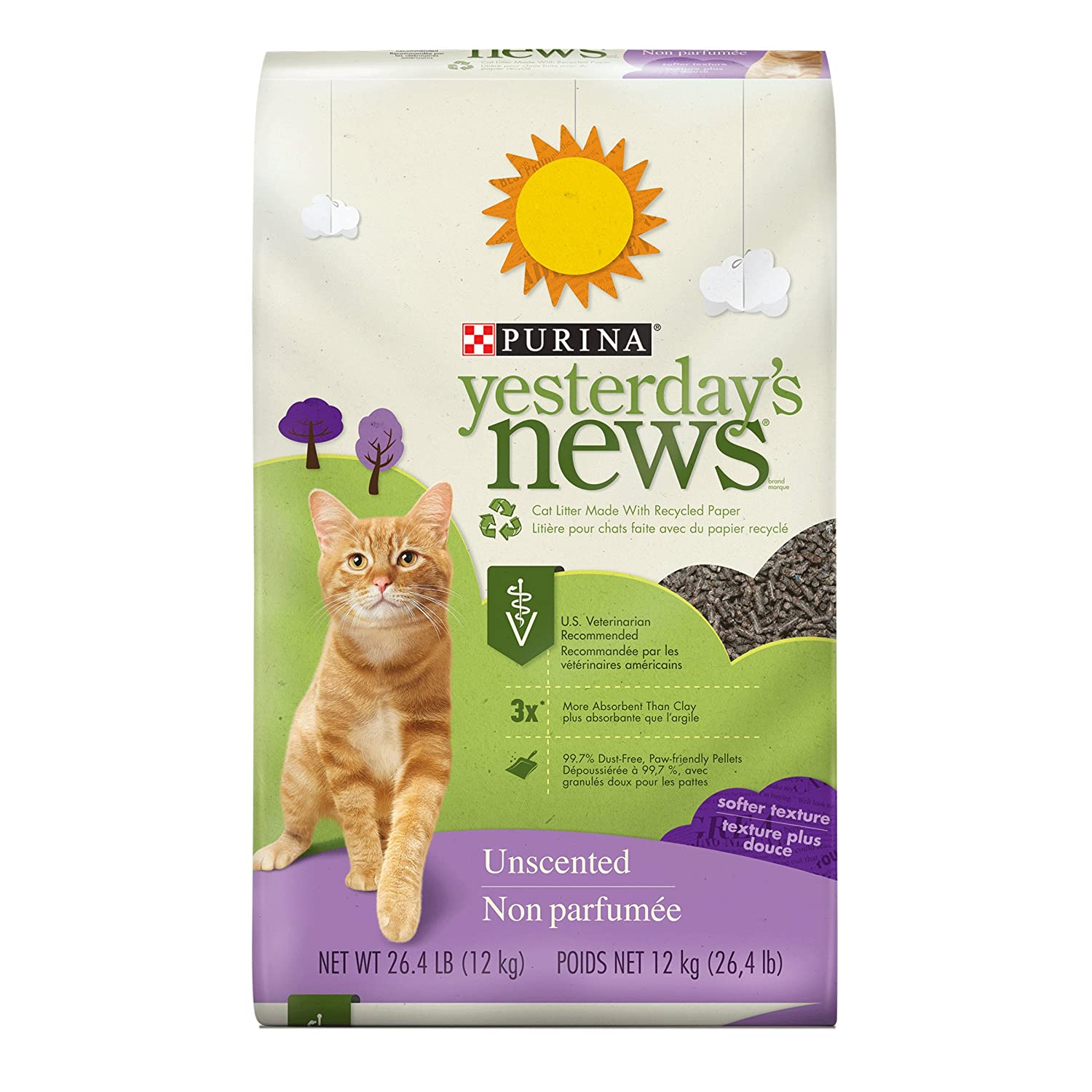 Yesterday's News Purina Unscented Softer Texture Cat Litter - 26.4 lb. Bag