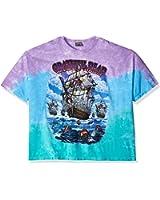 Liquid Blue Men's Grateful Dead Ship of Fools Tie Dye Short Sleeve T-Shirt