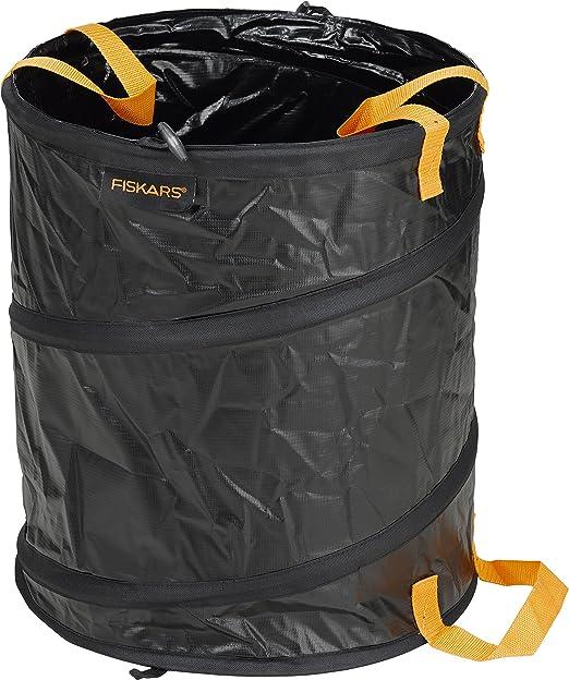 Fiskars Solid Bolsa para jardín con asas, Capacidad: 56 litros, Negro/Naranja, 1015646: Amazon.es: Jardín