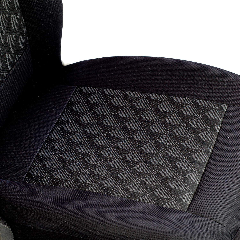 Farbe Premium Schwarz Effekt 3D 1 Set Mokka Sitzbez/üge