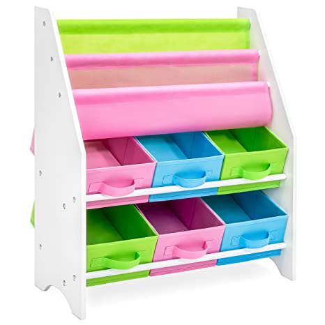 Best Choice Products Kids Furniture Toy And Bookcase Storage Shelf Organizer W 3 Book Shelves