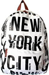 81532d416745 Robin Ruth NYC Bold Letter Polyester Backpack White Black