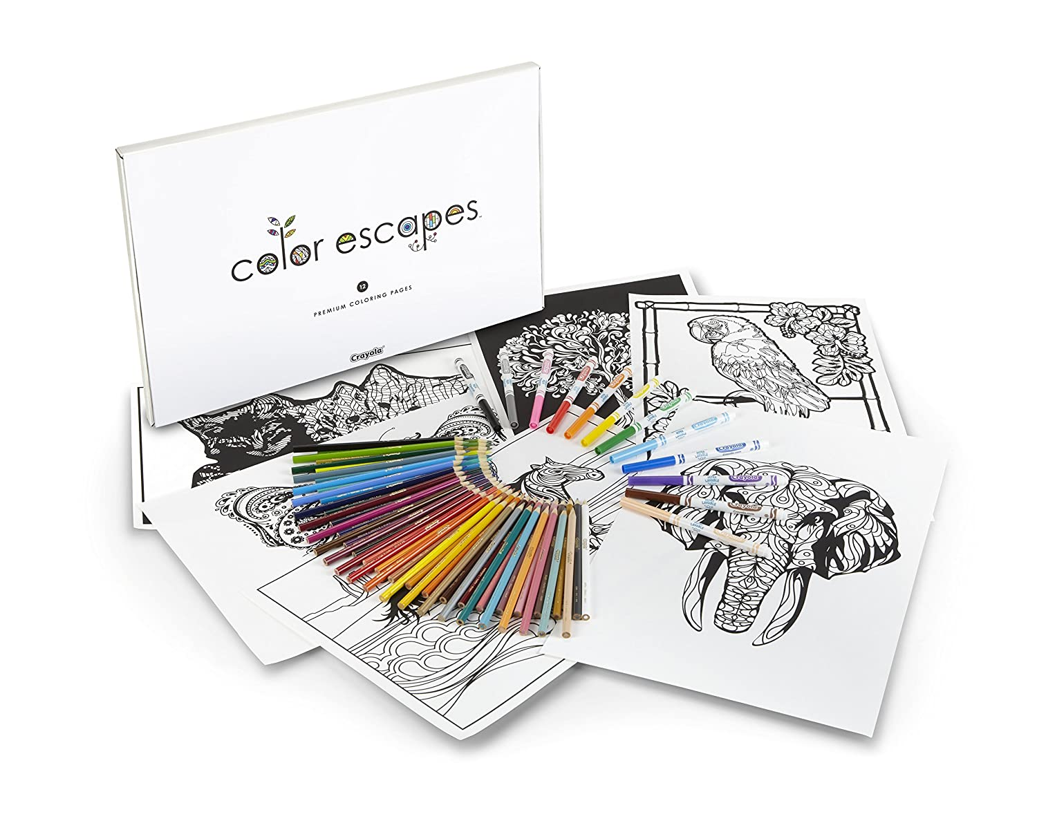 Amazon Com Crayola Color Escapes Coloring Pages Pencil Kit Crayola Coloring Pages
