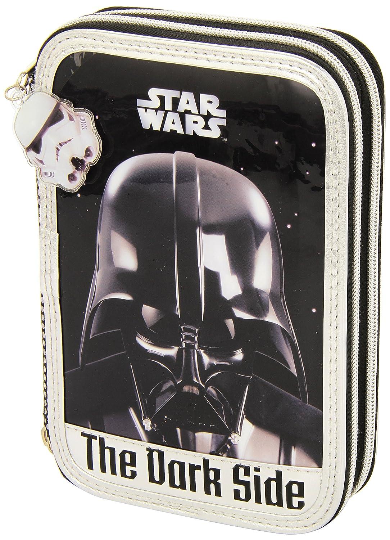 Star Wars Safta 411501054 Trousse plumier, 34emplacements, 14x 21cm