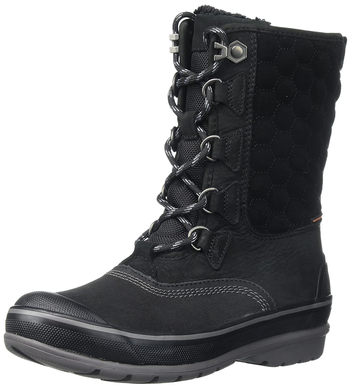 CLARKS Women's Muckers Lace Snow Boot B01MU0164K 5 B(M) US|Black Nubuck