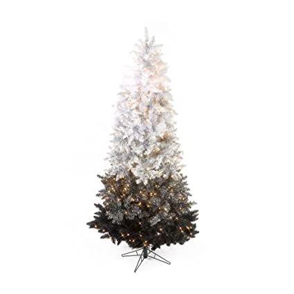 Sterling Inc 7 5 Vintage Black Ombre Spruce Pre Lit Christmas Tree