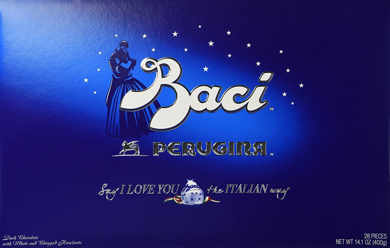 Amazon Perugina Baci Classic Dark Chocolate Hazelnut 28 Pc Box