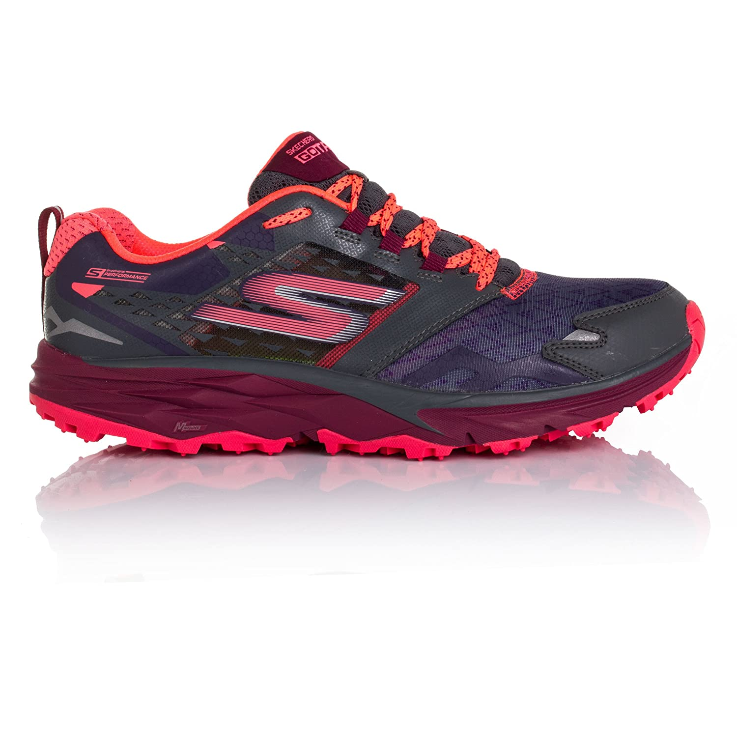 Skechers Women's Go Trail B019J7YRIK 6 B(M) US|Charcoal/Multi