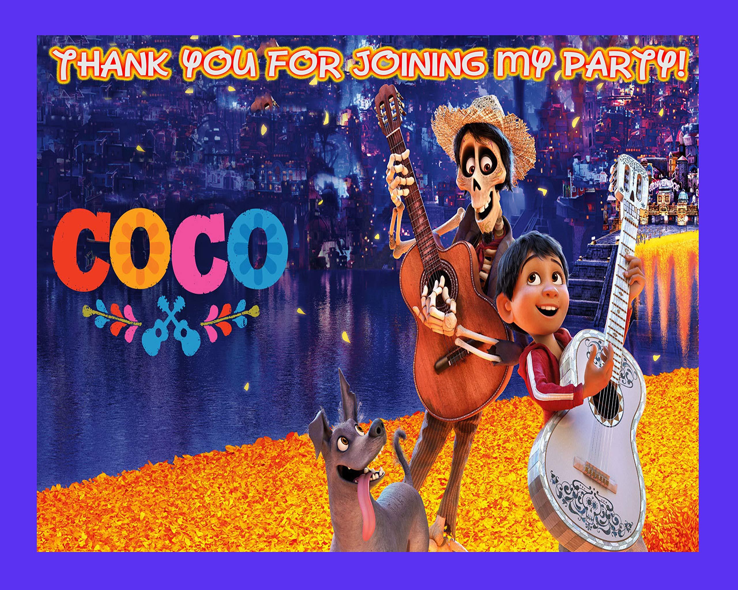 COCO Large Vinyl Indoor or Outdoor Banner Sign Poster Backdrop Decoration, Waterproof Vinyl, 30'' x 24'' (2.5ft x 2ft)