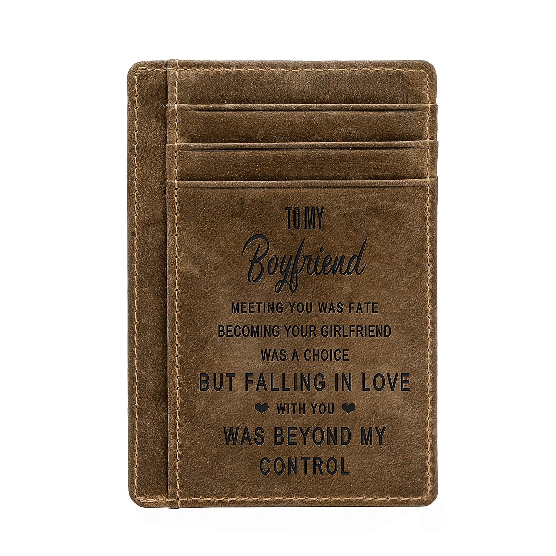 Amazon.com: Cartera de bolsillo grabada para hombre ...