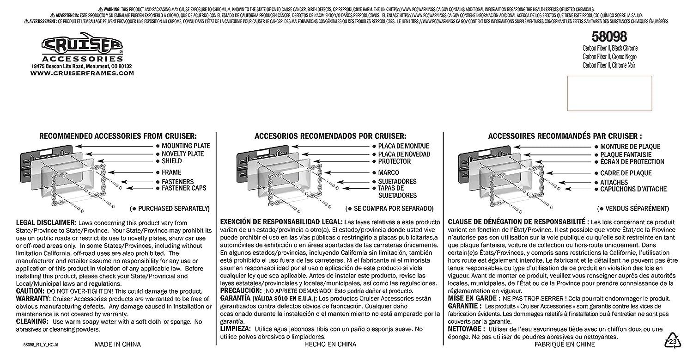 Amazon.com: Cruiser Accessories 58098 II, Carbon Fiber/Black Chrome: Automotive