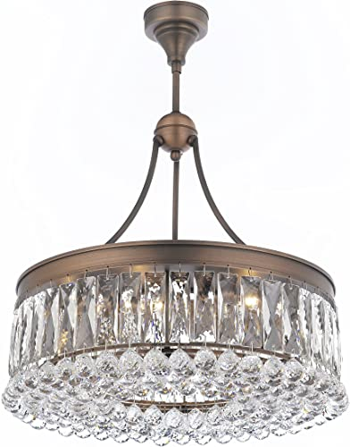 Valencia- 20-inch Hanging Chandelier with Heirloom Grandcut Crystals