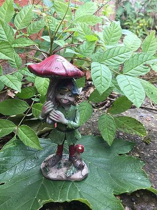 Osiris Trading UK Fabulous Pixie Holding Toadstool Paraguas decoración jardín duende duende Pixies decoración: Amazon.es: Jardín