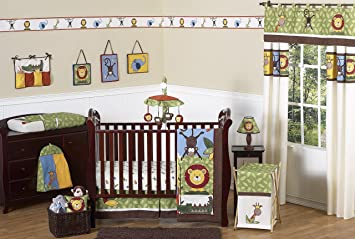 amazon com sweet jojo designs 11 piece jungle safari monkey