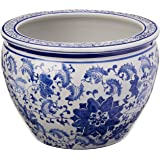 Amazon Com Blue And White Jardiniere By Oriental Furnishings Home