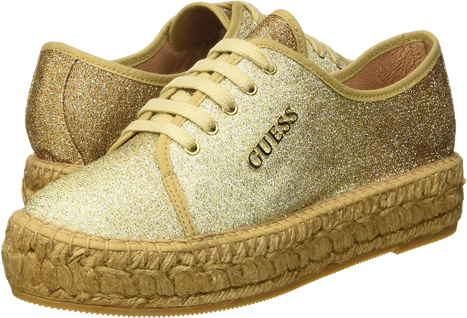 Guess Glitter Fabric, Baskets Hautes Femme: