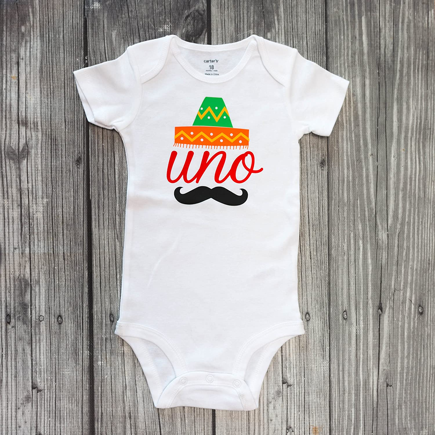 Uno bodysuit - fiesta bodysuit - fiesta party - sombrero bodysuit - boy first birthday - fiesta time - first birthday - birthday outfit - birthday shirt