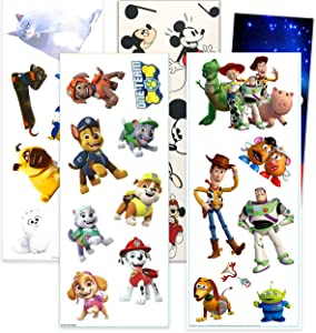 RoomMates Boys Wall Decals Bundle ~ 32 Pc Boys Room Decor Decal Set Featuring Toy Story, Paw Patrol, Mickey Mouse, and Secret Life of Pets (RoomMates Wall Decals)