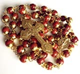 elegantmedical Red Agate Beads Catholic Rosary