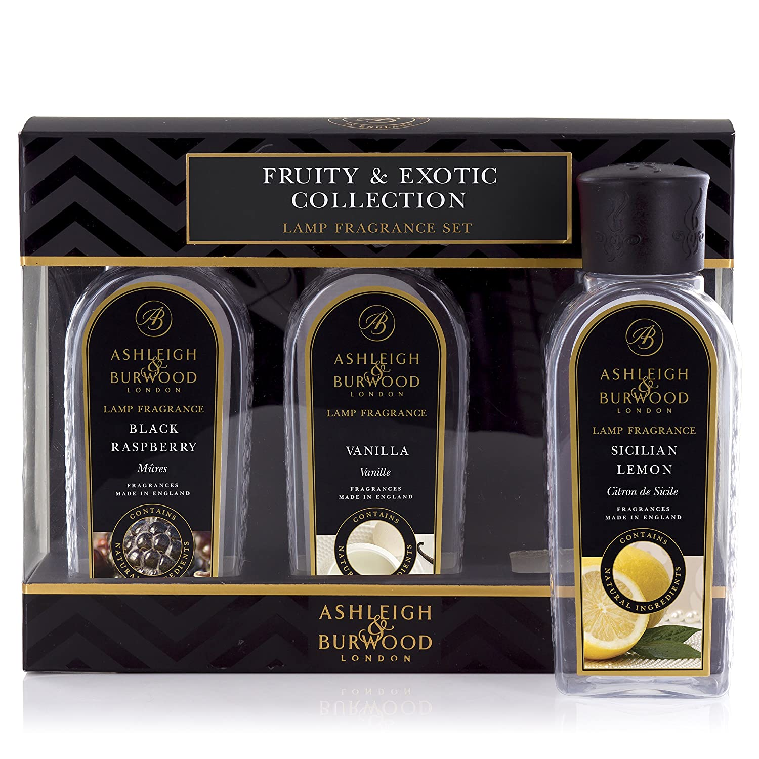 Ashleigh & Burwood Fragrance Lamp Fragrances 3 x 180ml - Fruity & Exotic Collection Scented Candle Shop PFLS1042