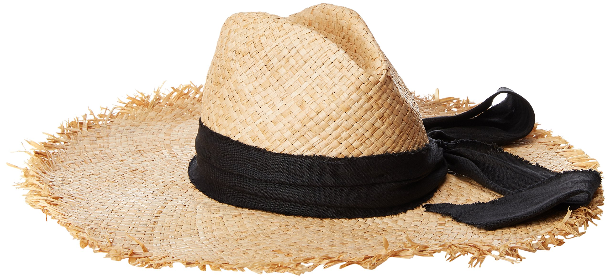 Michael Stars Women's on The Fray Wide Brim Hat, Natural, One Size