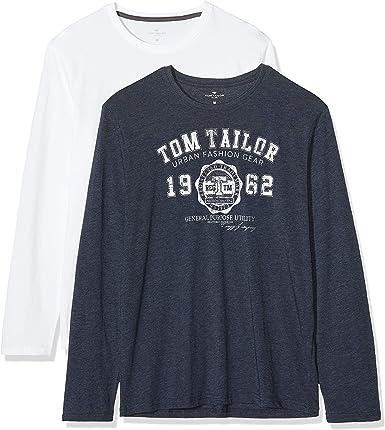 TOM TAILOR M/ädchen T-Shirts//Tops Langarmshirt mit Print und Pailletten