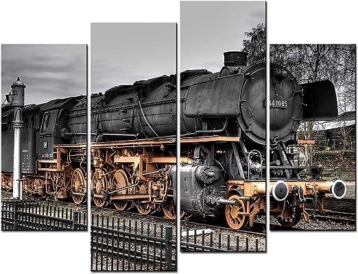Metal Tin Sign train locomotive Decor Bar Pub Home Vintage Retro Poster Cafe ART