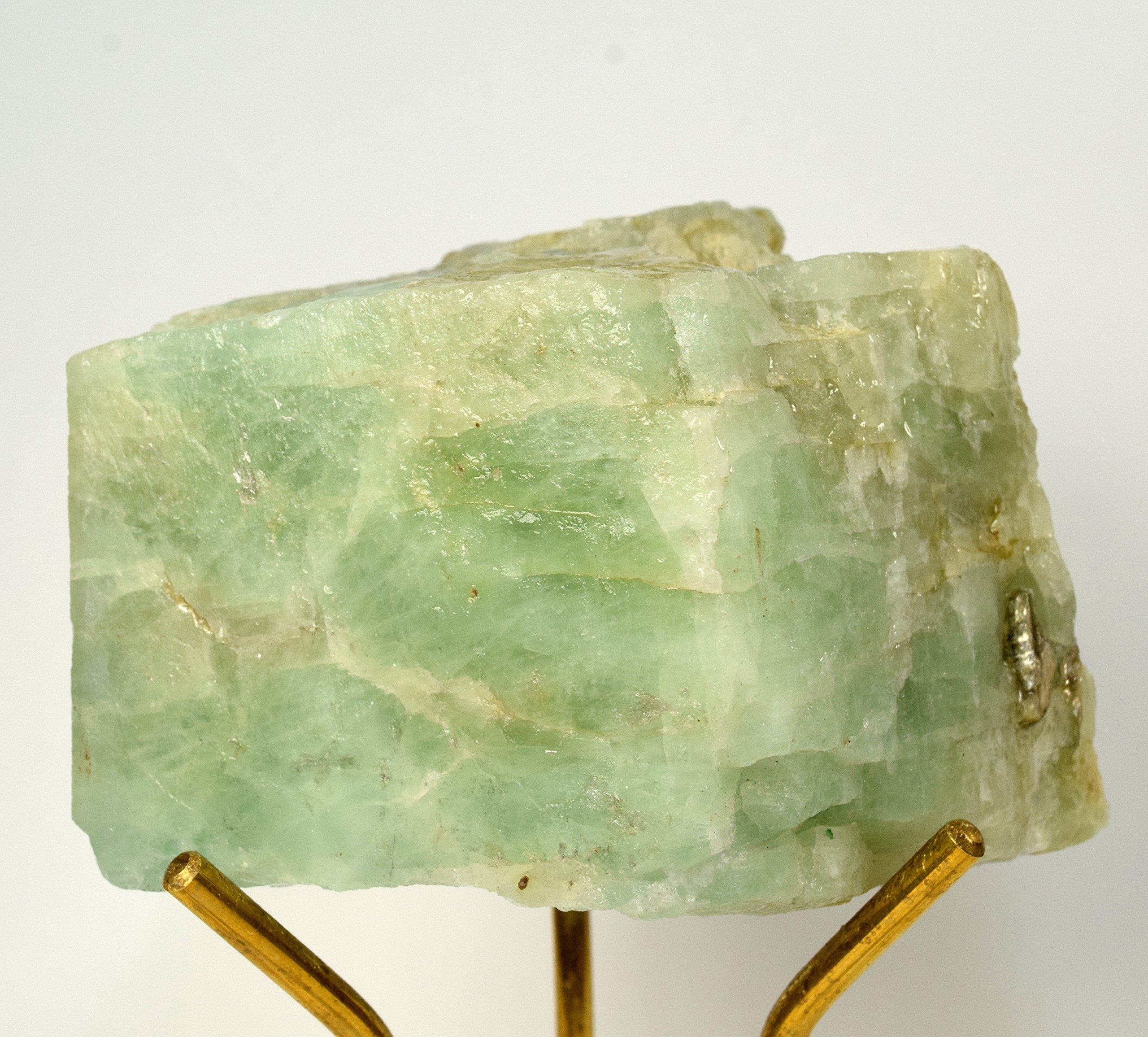 Large 2.1lb 4.3'' Aquamarine Rough Natural Beryl Emerald Crystal Stone Cabochon Greenish Blue Yellow Sparkling Mineral Gemstone Specimen - Brazil