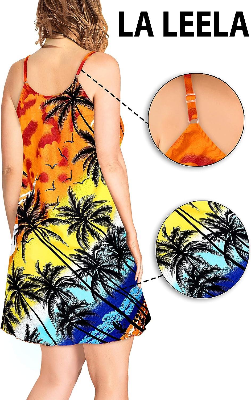 Stampa Hawaiana XS LA LEELA Estivo Estate Spiaggia Palme 999 7XL Tasca Frontale Maniche Corte Funky Camicia Hawaiana da Uomo