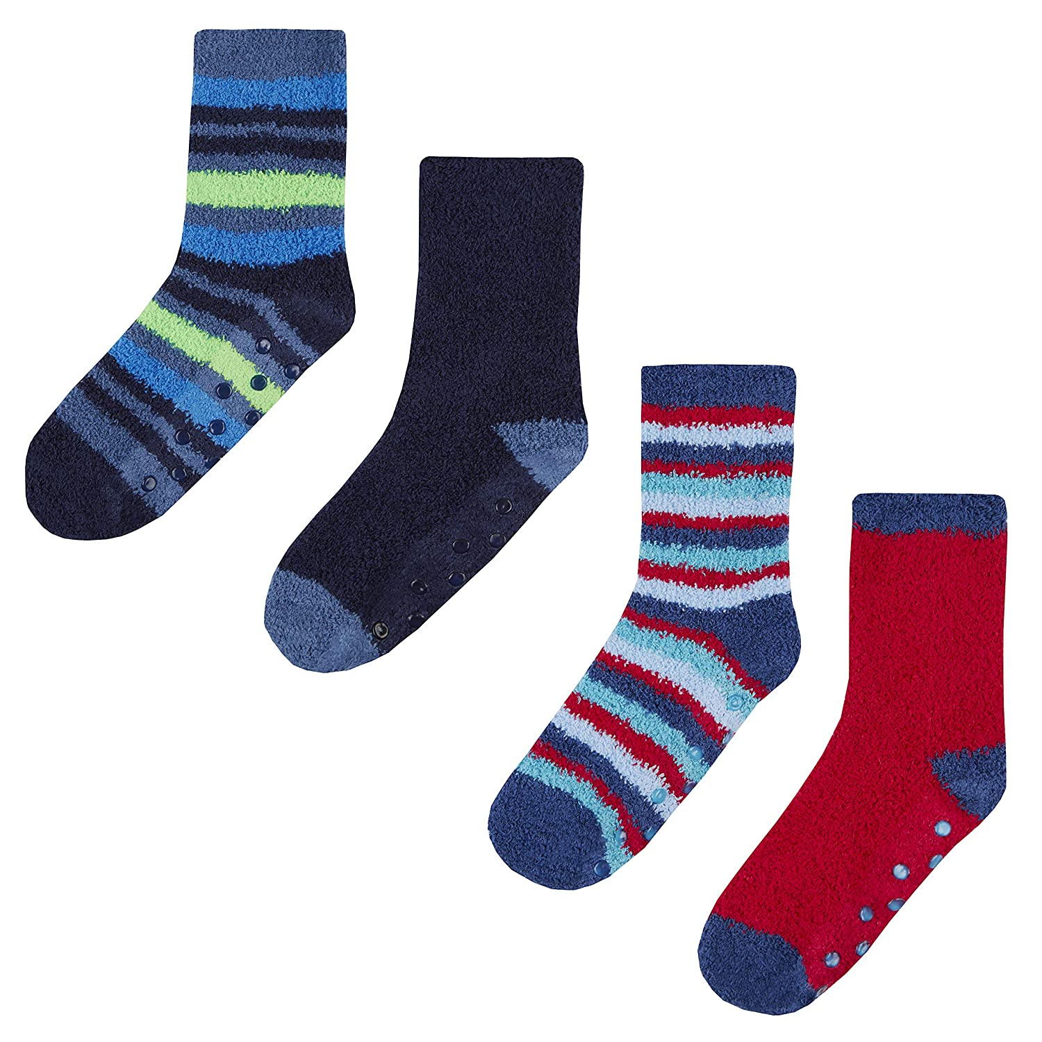 Street Essentials Boys 2 Pack Supersoft Slipper Socks