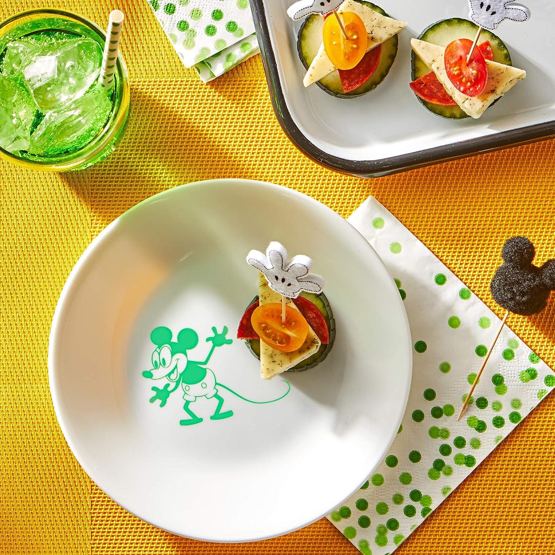 Contiene plato cuchillo Vajilla infantil de 6 piezas de Mickey Mouse para ni/ños y ni/ñas tenedor cuenco y sandwichera Mickey Mouse - 6pcs vaso