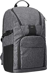 AmazonBasics Camera Backpack for Pro DSLR and Laptop (High Density Water-Resistant 840D Polyester) - Ash Gray