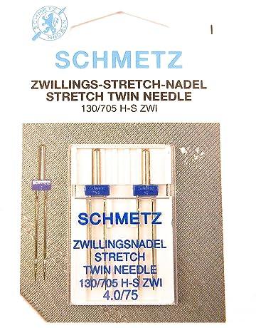 2 Agujas Stretch Schmetz Zwilling 130/705 grosor 4,0/75 plana émbolo